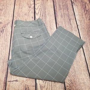 Women's Grey Plaid Nike Golf Pants Sz 10 | Dri-Fit